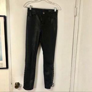 BlankNYC Vegan Leather Black Lace-Up Legging Pants